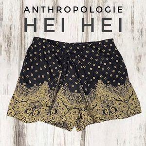 Anthropologie Hei Hei wrap front shorts
